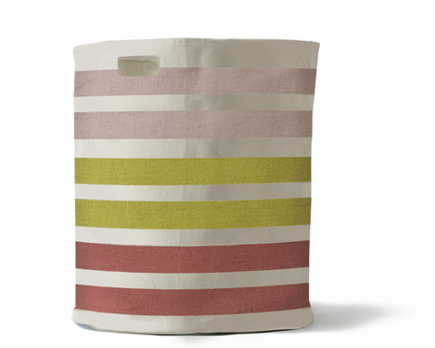 Striped Canvas Hamper - Rainbow Stripe