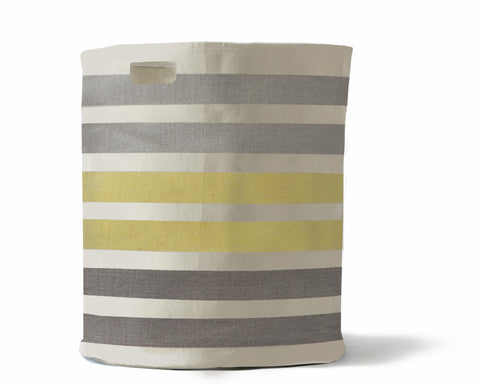Striped Canvas Hamper