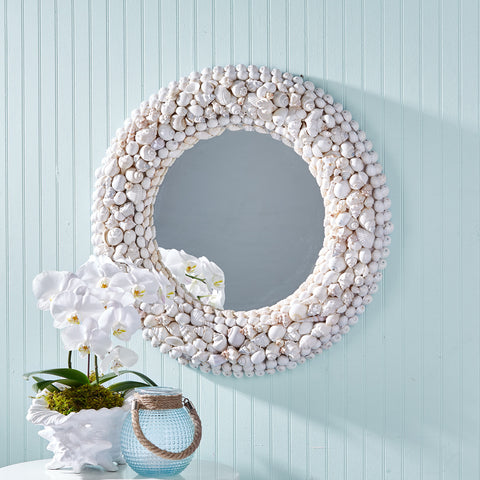 Coquillage White Shell Mirror - Sold Out!