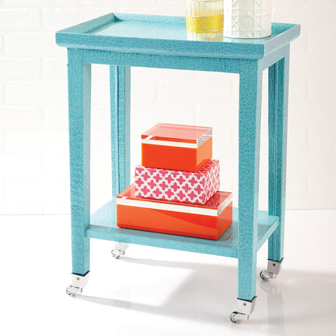 Turquoise Cote d'Azur Phone Table - SOLD OUT!