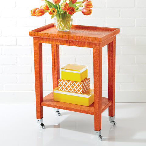 Orange Cote d'Azur Phone Table -SOLD OUT!
