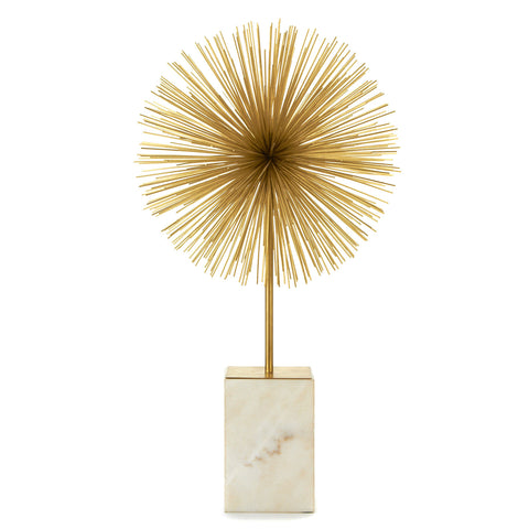 Gold Star Bursts on Marble Stand - Set of Two