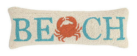 Beach Crab Hook Pillow