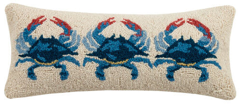 Three Crab Hook Pillow