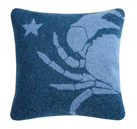 Blue Crab Star Hook Pillow