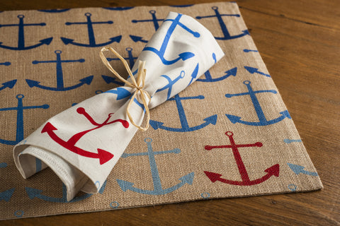 Blue Anchor Placemats