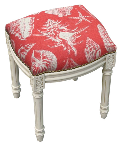 Sea Shells Linen Stool - Assorted Colors