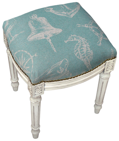 Nautical Linen Stool
