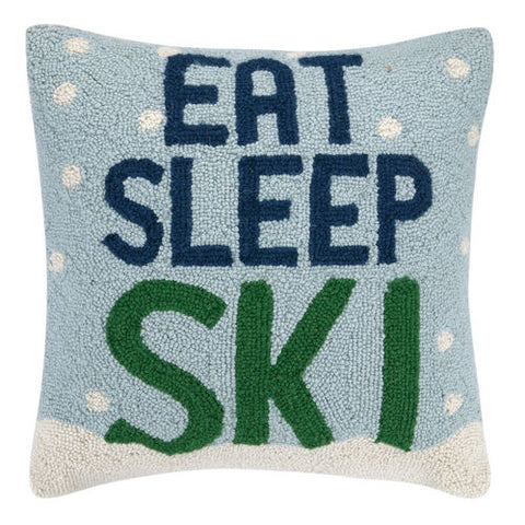 Eat Sleep Ski Hook Pillow