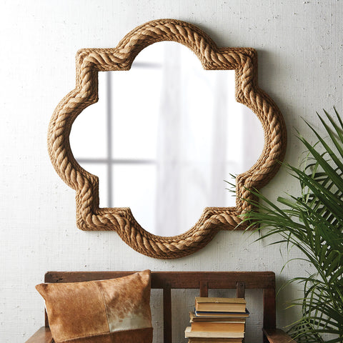 Quatrefoil Rope Mirror - Sold Out!