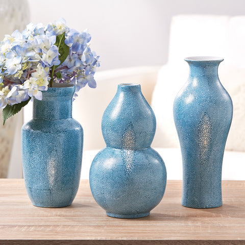 Shagreen Vases - Set of 3 - SOLD OUT