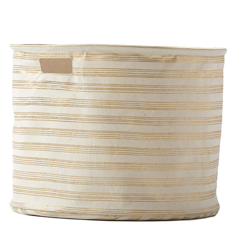 Gold Foil Stripe Canvas Drum