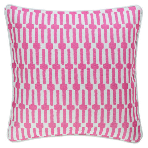 Links Indoor Outdoor Pillow - Fuchsia Pink