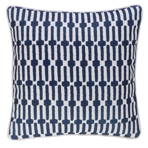 Links Indoor Outdoor Pillow - Navy Blue