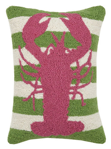 Lobster Green Stripes Hook Pillow
