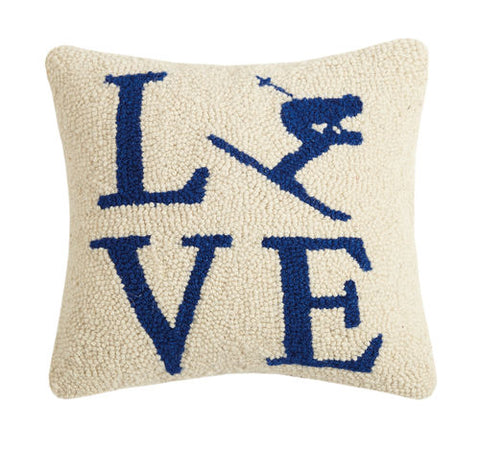 Love Ski Hook Pillow