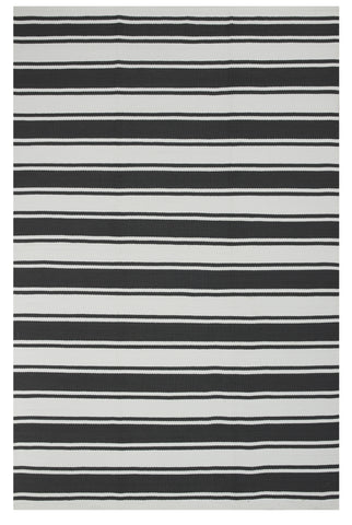 Lucky Indoor Outdoor Rug - Gray and White Stripe