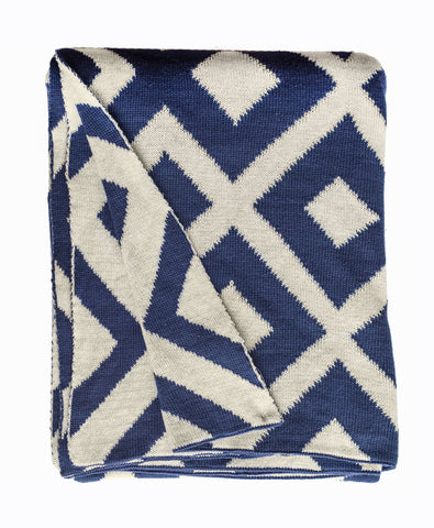 Marina Throw - Indigo & Natural