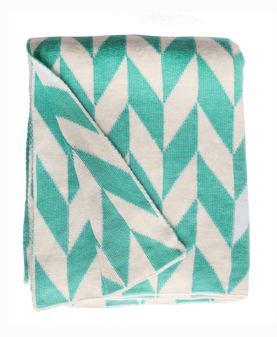 Monroe Throw - Turquoise & Natural