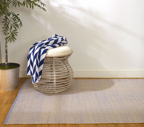 Monroe Throw - Blue & Natural