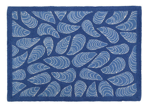 Blue Mussels Outdoor Pillow