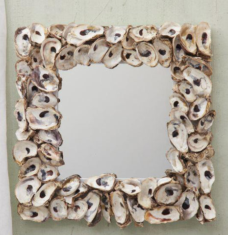 Oyster Shell Mirror - Square, Set of Two