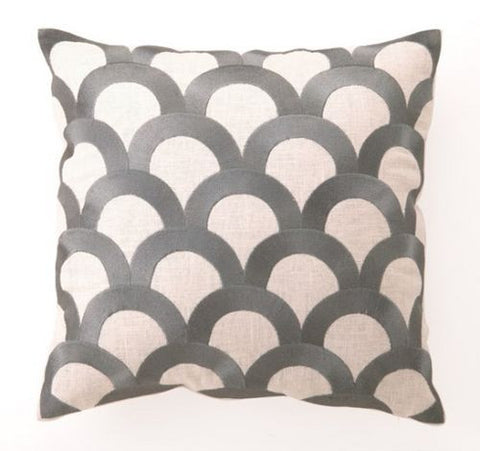 Scales Pillow - Granite Gray