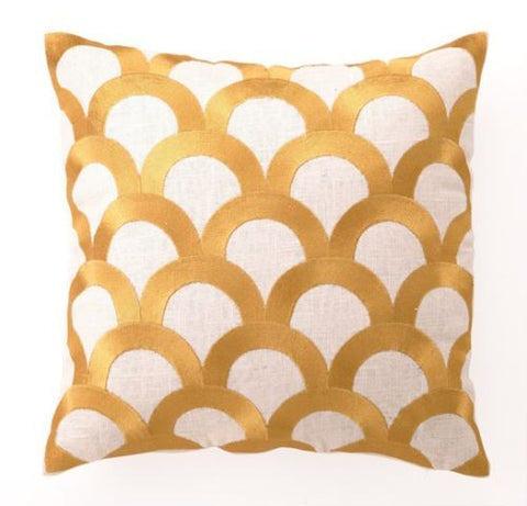 Scales Pillow - Citron Yellow