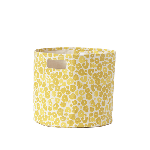 Poppy Canvas Bin - Yellow