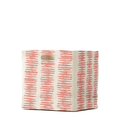Static Stripe Canvas Cube - Persimmon