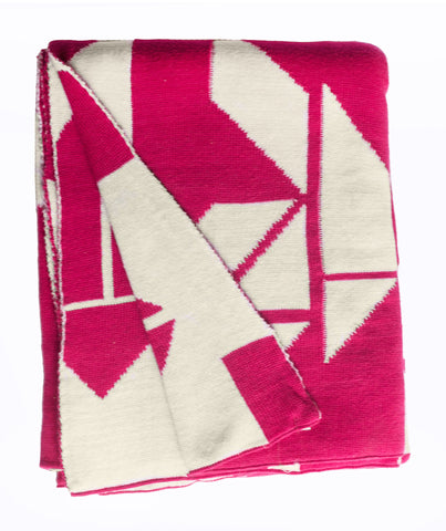 Santa Cruz Throw - Beetroot & White