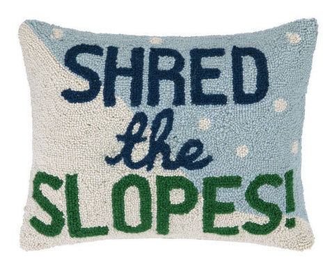 Shred the Slopes Hook Pillow