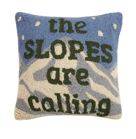 Slopes Are Calling Hook Pillow