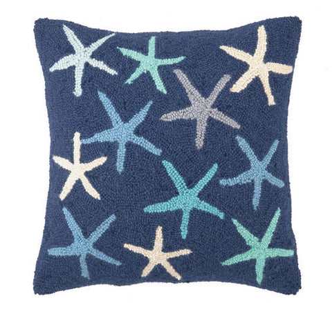 Starfish Hook Pillow -Navy Blue
