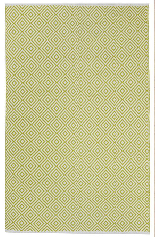 Veria Cotton Rug - Green and White