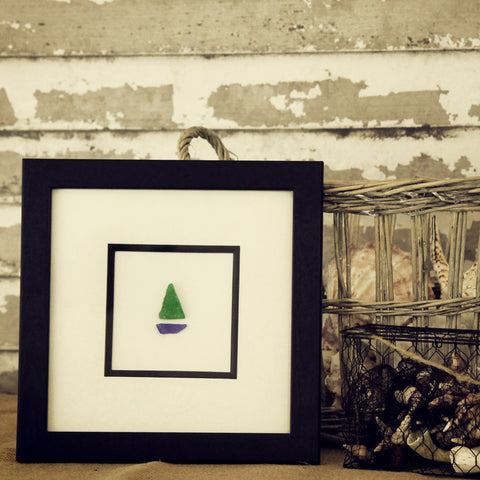 Sailboat in Sea Glass