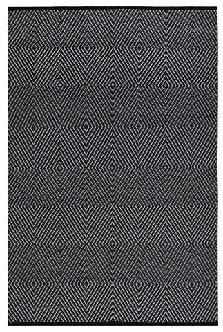 Zen Cotton Rug - Dark Blue and Bright White
