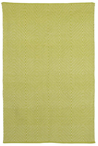 Zen Cotton Rug - Dark Citron and Bright White