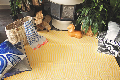 Zen Indoor/Outdoor Rug - Yellow and White SOLD OUT