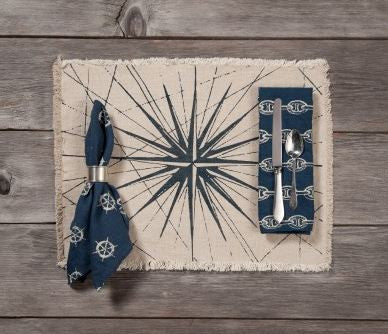 Compass Rose Linen Placemats