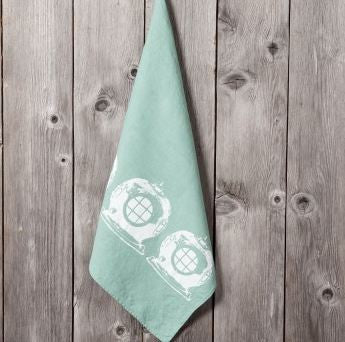 Diving Helmet - Linen Hand Towels