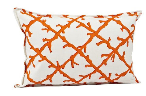 Coral Lattice Pillow - Rectangle SOLD OUT