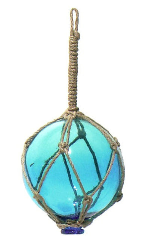 Nautical Glass Float - Turquoise