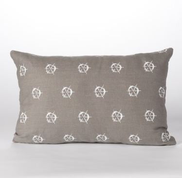 Ships Wheel Lumbar Pillow