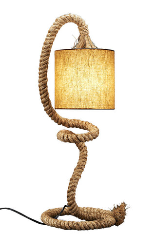 Twisted Rope Pier Table Lamp