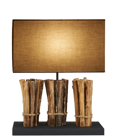 Tri Bundled Teak Sticks Lamp