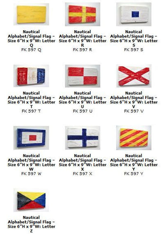 International Nautical Alphabet Signal Flag Signs