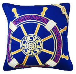 Nautical Ship's Wheel Pillow -SOLD OUT!