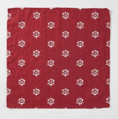 Ship's Wheel Linen Napkin -SOLD OUT