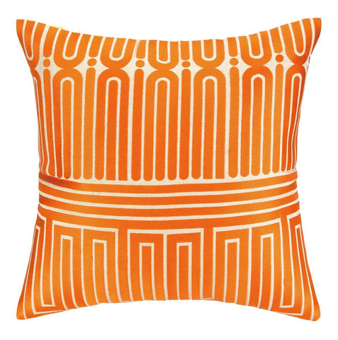 Trina Turk Garden Maze Pillow - Orange -SOLD OUT